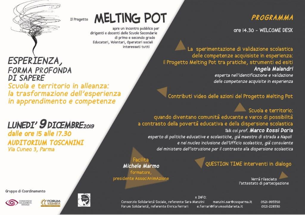 MELTING POINT 9 Dicembre 2019